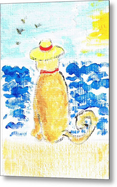 Cat Metal Print featuring the painting 30 Something by Marie Loh