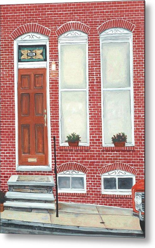 Hamburg Street Metal Print featuring the painting 305 Hamburg by John Schuller