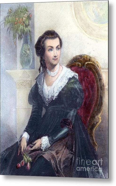 18th Century Metal Print featuring the photograph Abigail Adams (1744-1818) by Granger