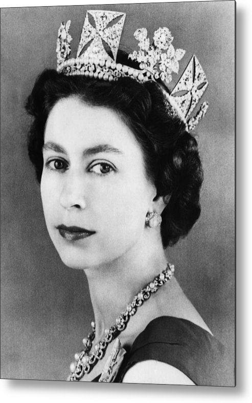 1950s Metal Print featuring the photograph British Royalty. Queen Elizabeth II by Everett