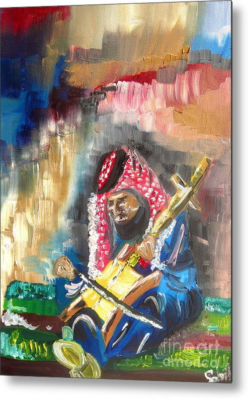 Bedouin Metal Print featuring the painting A Bedouin Life by Sabrina Phillips