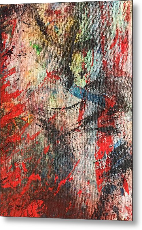 Sheer Metal Print featuring the painting Abstract 43 by Laura Parker