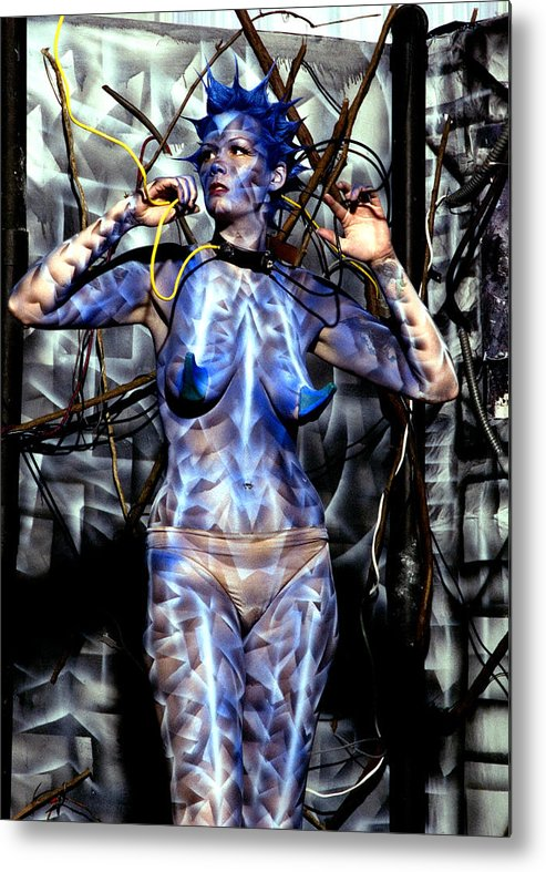Body Paint Metal Print featuring the painting Alive by Leigh Odom