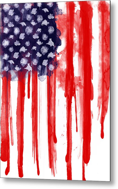 America Metal Print featuring the painting American Spatter Flag by Nicklas Gustafsson