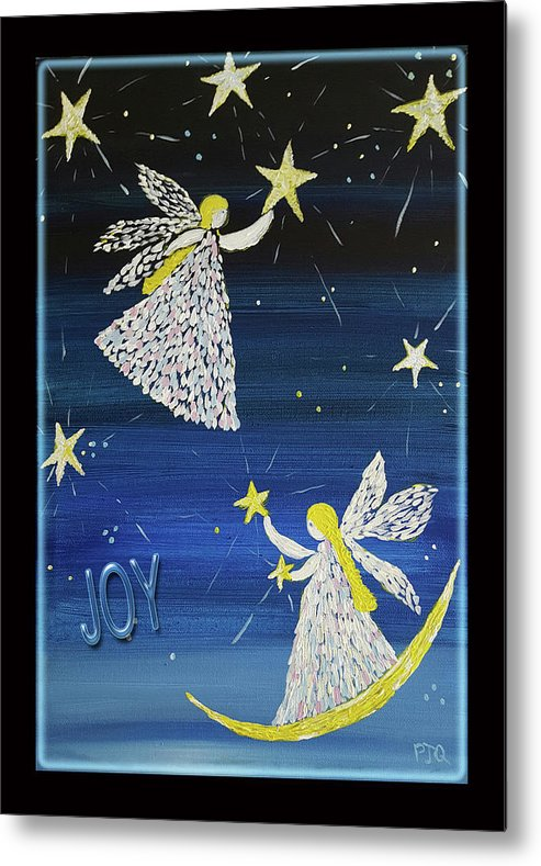 Joy Of Angels Shining Stars Metal Print featuring the photograph Angels, Joy, Lucky Stars by PJQandFriends Photography