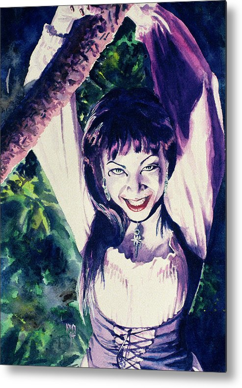 Women Metal Print featuring the painting Anissa by Ken Meyer