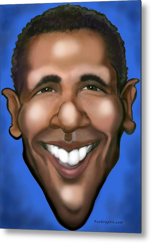 Barack Obama Metal Print featuring the painting Barack Obama by Kevin Middleton