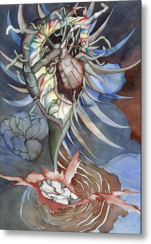 Seallife Metal Print featuring the painting Between Two Worlds by Liduine Bekman