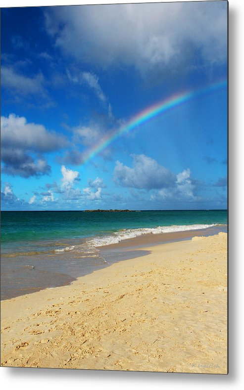 Rainbow Metal Print featuring the photograph Blessed With A Rainbow by Kerri Ligatich