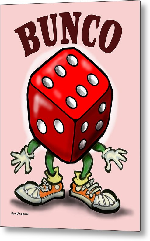 Bunco Metal Print featuring the greeting card Bunco by Kevin Middleton