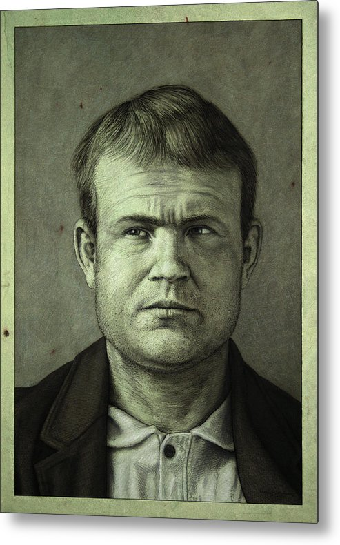 Butch Cassidy Metal Print featuring the painting Butch Cassidy by James W Johnson