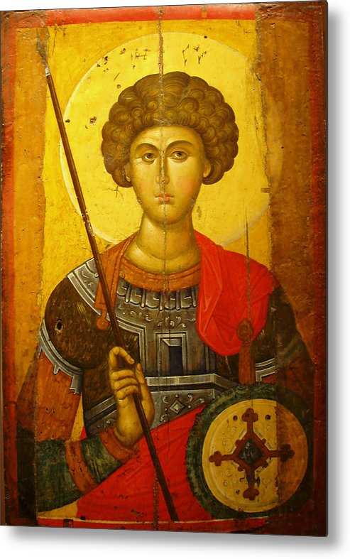 Byzantine Knight Metal Print featuring the photograph Byzantine Knight by Ellen Henneke
