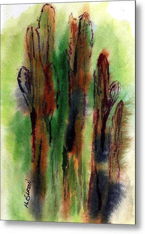 Saguaro Metal Print featuring the painting Cactus Coolers by Marilyn Barton