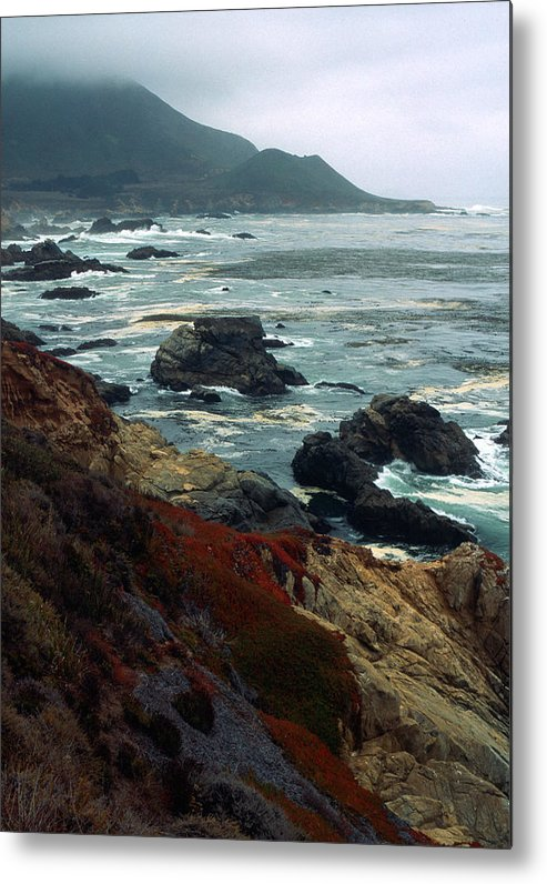 California Metal Print featuring the photograph California Coast by Kathy Yates