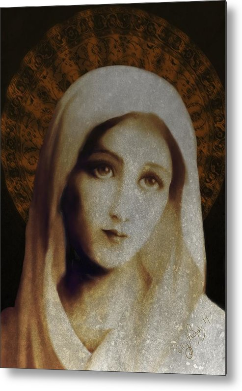 Mary Metal Print featuring the digital art Chosen One by Ellen Dawson