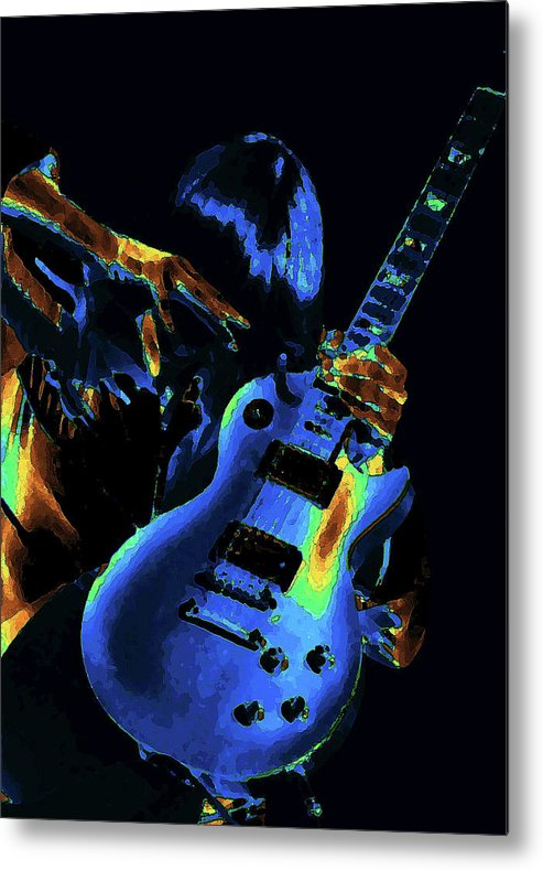 Rock Images Metal Print featuring the photograph Cosmic Rock Guitar by Ben Upham