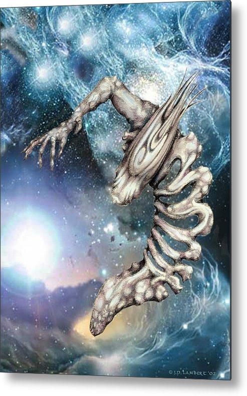 Alien Metal Print featuring the digital art Crescent by J P Lambert