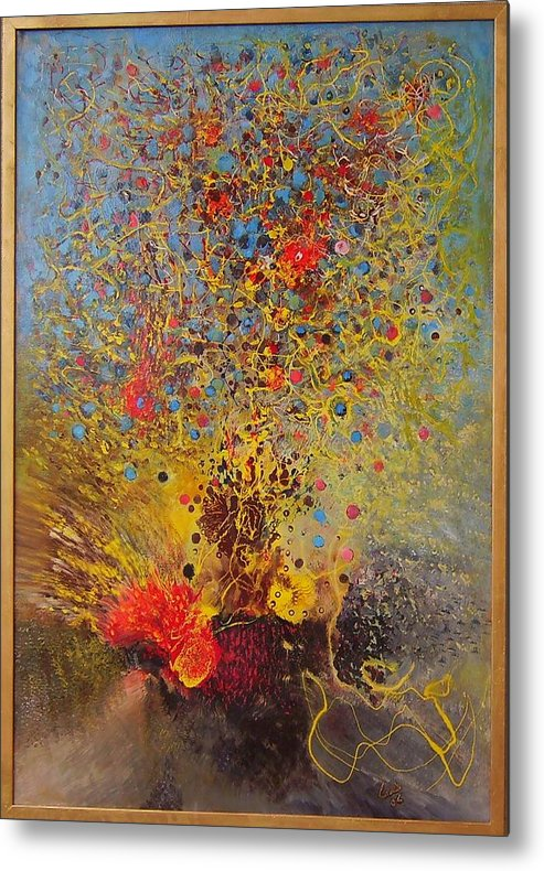 Metal Print featuring the painting Damascus by Lamis Dachwali