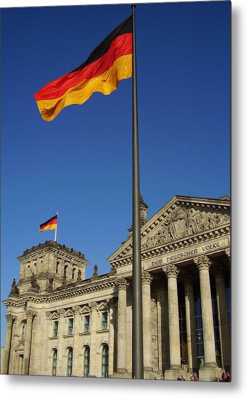 Deutscher Bundestag Metal Print featuring the photograph Deutscher Bundestag by Flavia Westerwelle