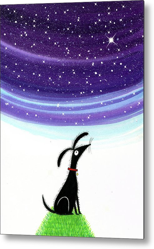 Dog Metal Print featuring the painting Dog Star by Andrew Hitchen