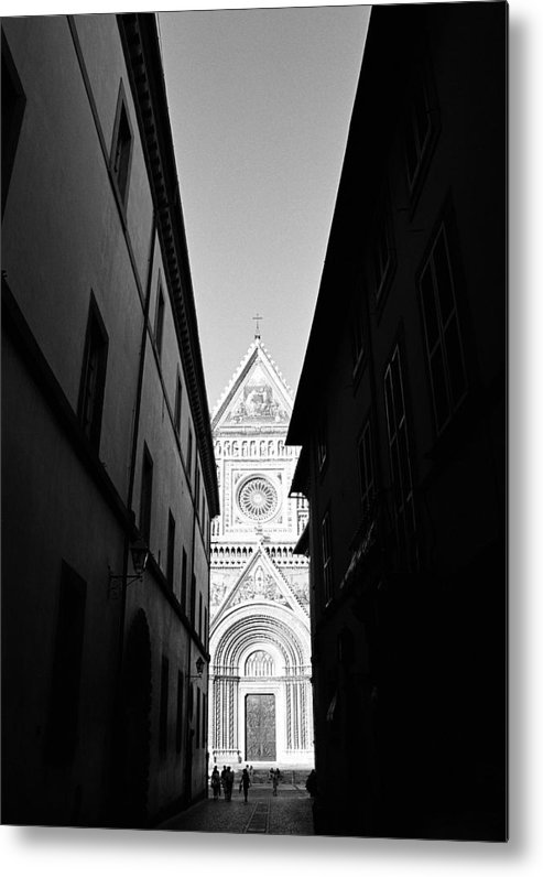 Black And White Metal Print featuring the photograph Duomo II by Artecco Fine Art Photography