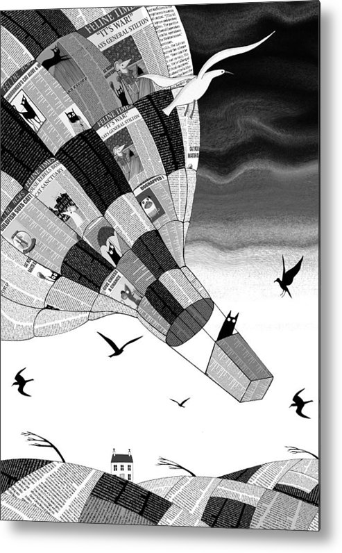 Balloon Metal Print featuring the digital art Escape by Andrew Hitchen