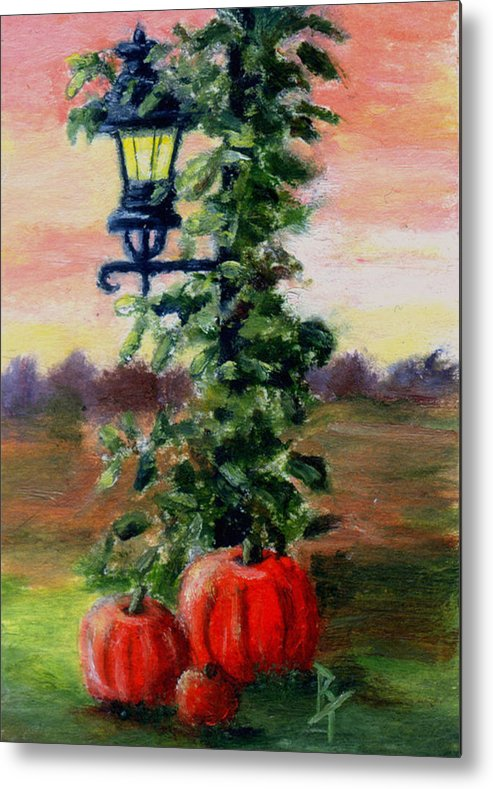 Fall Metal Print featuring the painting Fall Aceo by Brenda Thour