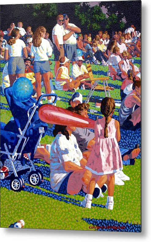 People Metal Print featuring the painting Festival by Kevin Lawrence Leveque