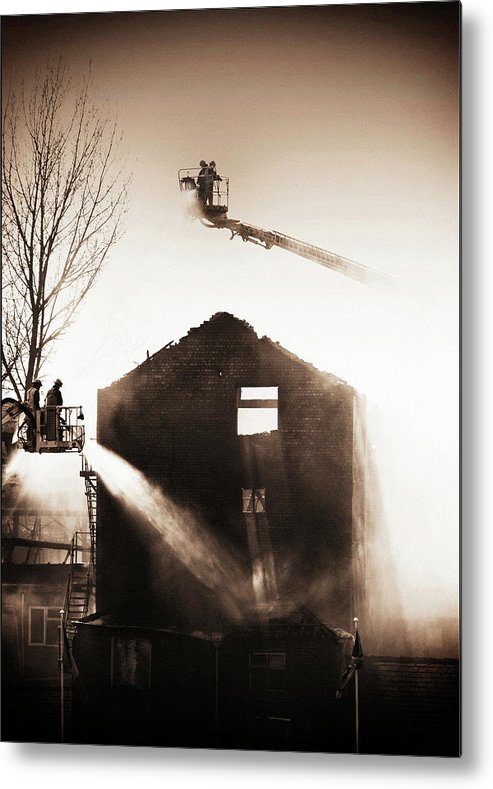 Fire Metal Print featuring the photograph Fire by Peter Creighton