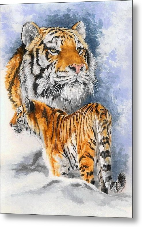 Big Cats Metal Print featuring the mixed media Forceful by Barbara Keith