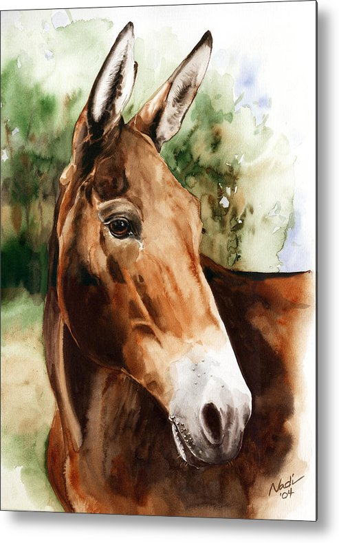 Mule Metal Print featuring the painting Francis by Nadi Spencer
