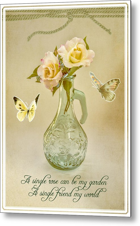 Roses Metal Print featuring the photograph Friends by Cathy Kovarik