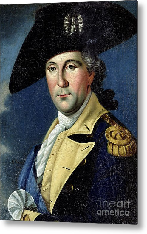George Metal Print featuring the painting George Washington by Samuel King