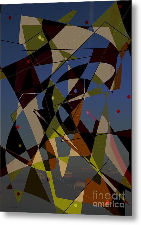 Abstract Metal Print featuring the digital art Go With The Flow Iv by Andy Mercer