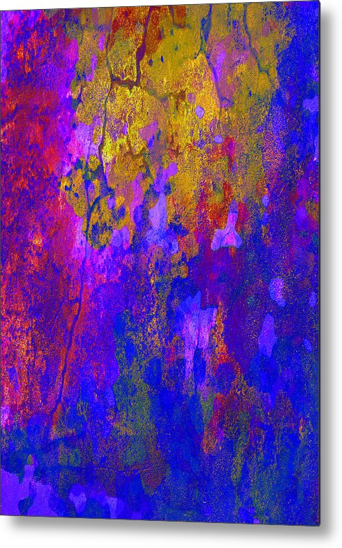 Abstract Art Metal Print featuring the digital art Golden Shine by Mirimo