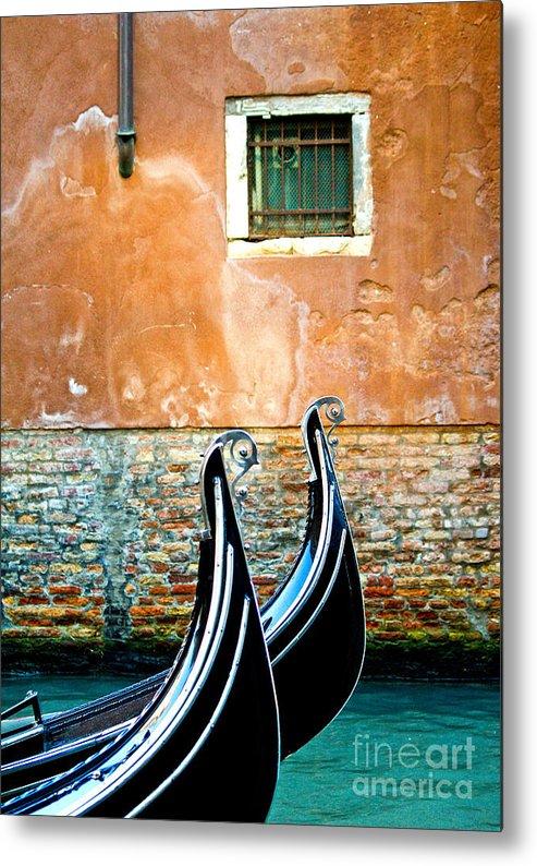 Gondola Metal Print featuring the photograph Gondola In Venice 2 by Emilio Lovisa