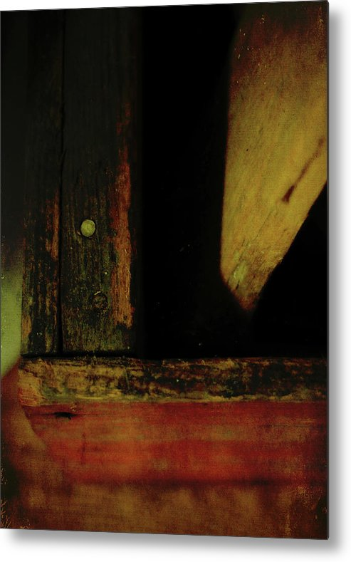 Old Metal Print featuring the photograph Heart Of Darkness And Light by Rebecca Sherman