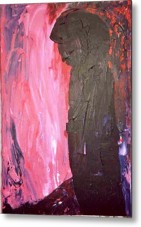 Red Metal Print featuring the painting Imagine by Bruce Combs - REACH BEYOND