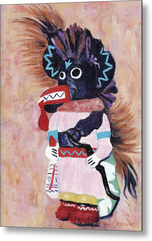 Katchina Metal Print featuring the painting Katchina by Suzanne Marie Leclair