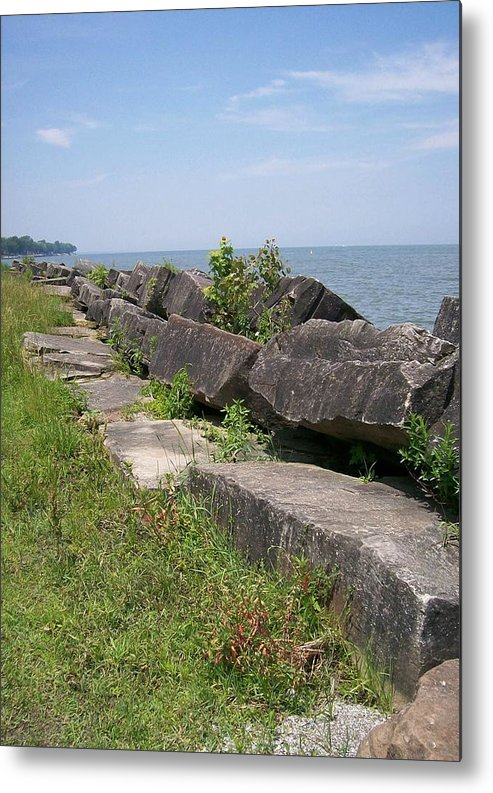 Lake Metal Print featuring the photograph Lake Front Park by Sara Raber