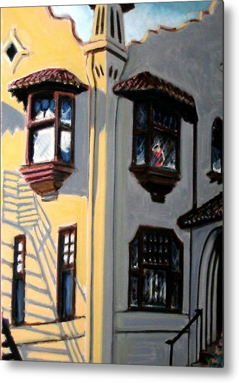 Landscape Metal Print featuring the painting L'amorita by Joshua Bloch