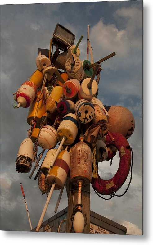 Rhode Island Metal Print featuring the photograph Long Wharf Buoys by Steven Natanson
