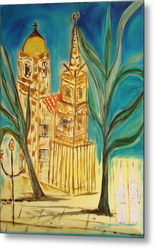 Spain Metal Print featuring the painting Malaga by Roger Cummiskey
