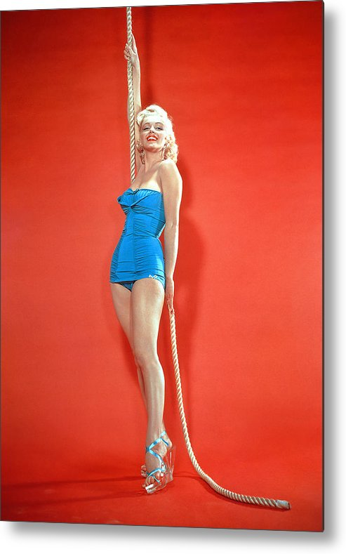 1950s Fashion Metal Print featuring the photograph Marilyn Monroe, C. 1950s by Everett