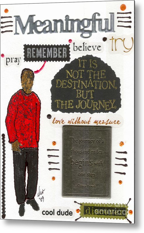 Gretting Cards Metal Print featuring the mixed media Meaningful by Angela L Walker