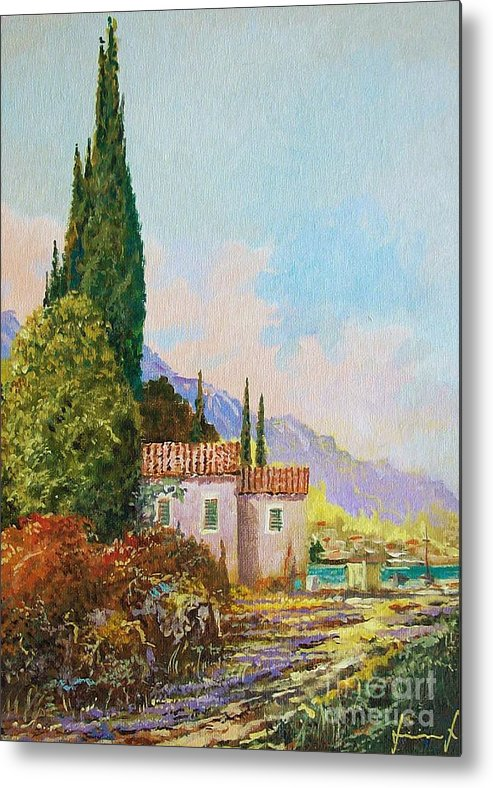 Original Painting Metal Print featuring the painting Mediterraneo 2 by Sinisa Saratlic