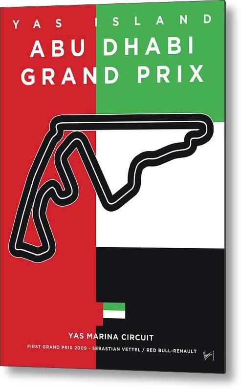 Yas Metal Print featuring the digital art My Abu Dhabi Grand Prix Minimal Poster by Chungkong Art