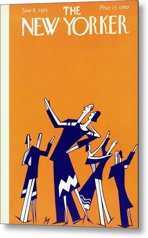 Illustration Metal Print featuring the painting New Yorker Magazine Cover Of Couples Dancing by Julian De Miskey