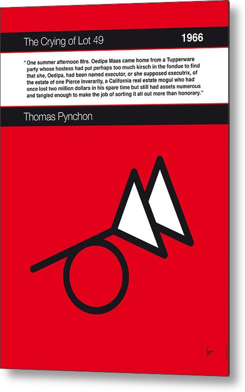 Thomas Metal Print featuring the digital art No023-my-the Crying Of Lot 49-book-icon-poster by Chungkong Art