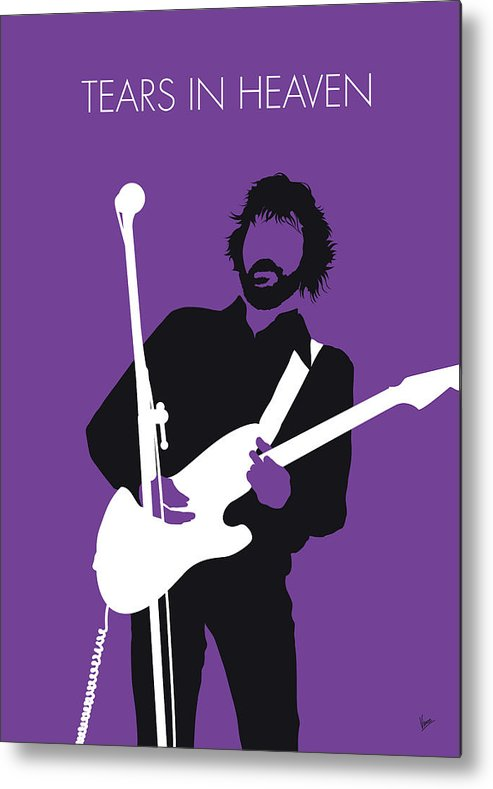Eric Metal Print featuring the digital art No141 My Eric Clapton Minimal Music Poster by Chungkong Art